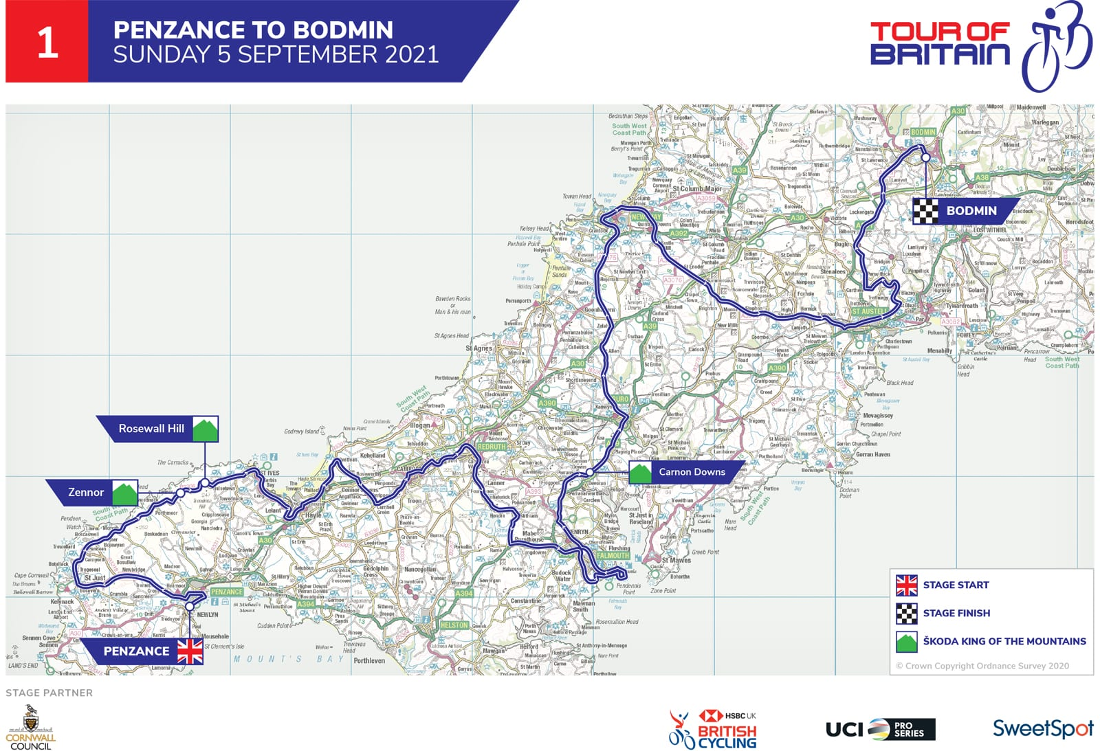 Cornwall Stage Route