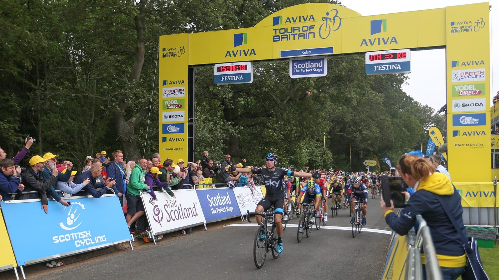Tour of Britain Scottish Borders Elia Viviani
