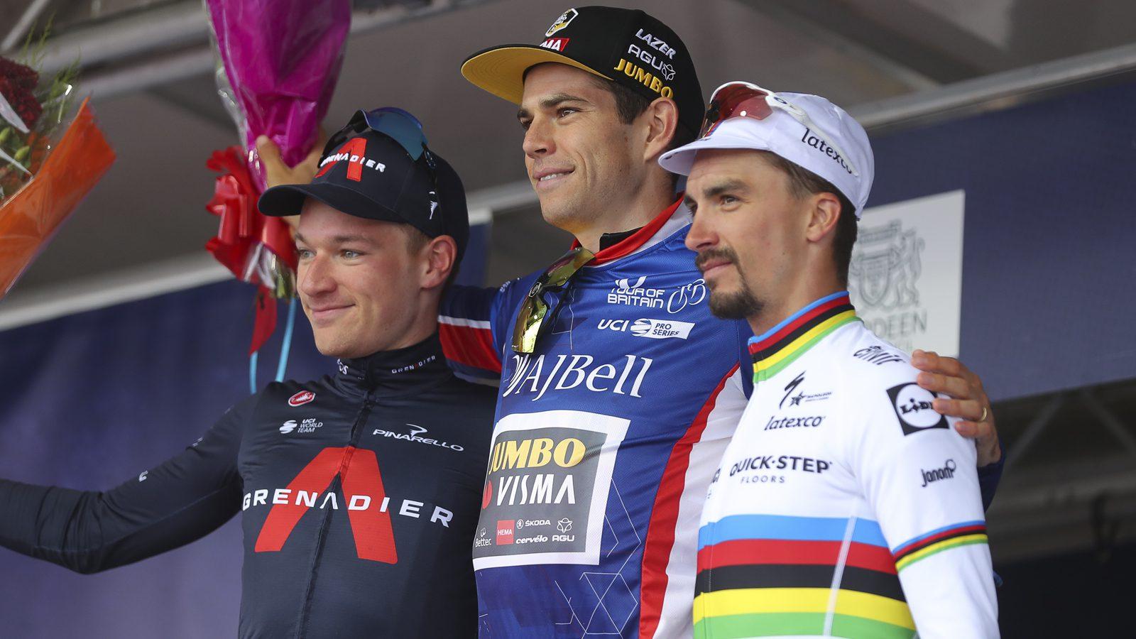 Tour of Britain Wout van Aert podium